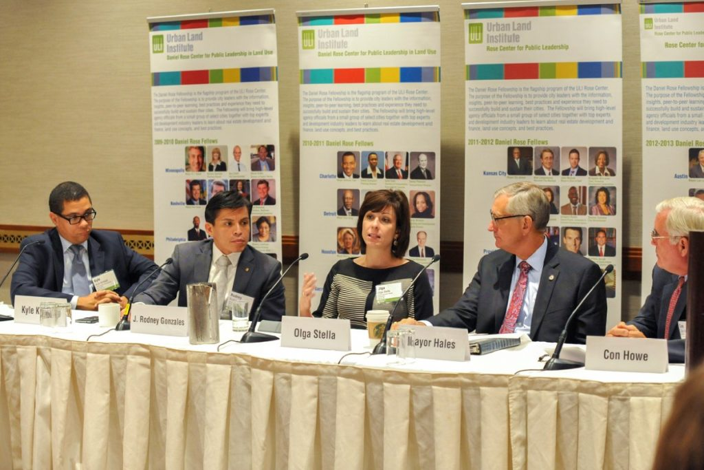 Mayors sitting on panel at ULI Foundation Meeting